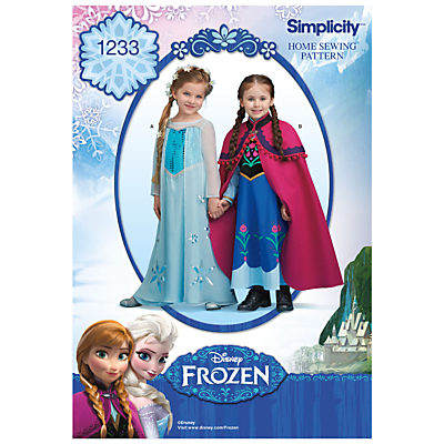Image of Simplicity Disney's Frozen Costumes Sewing Pattern, 1233