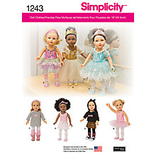 Buy Simplicity Dolls Clothes Sewing Pattern, 1243 Online at johnlewis.com