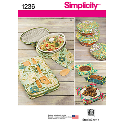 Product photo of Simplicity kitchen accessories sewing pattern 1236
