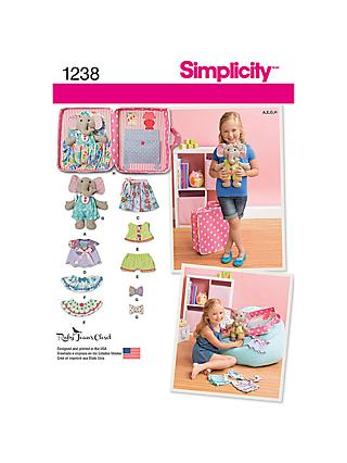 Simplicity Ellie The Elephant Soft Toy Sewing Pattern, 1238