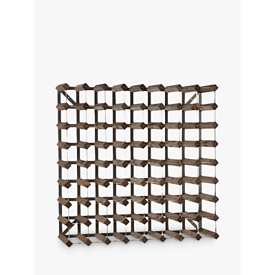 Traditional Wine Rack Co. Redwood Wine Rack, 72 Bottle, Dark Wood