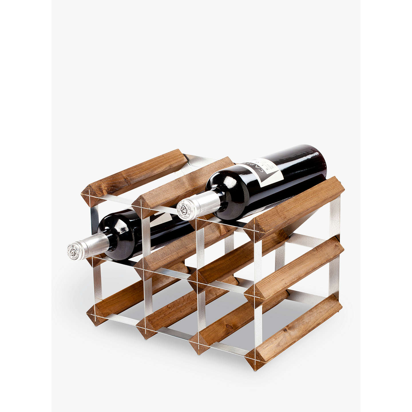 Traditional wine rack co red wood bottle