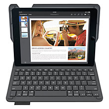 Buy Logitech Type+ Keyboard Case for iPad Air, Black Online at johnlewis.com