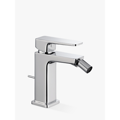 Image of John Lewis & Partners Spey Bidet Monobloc Bathroom Mixer Tap With Pop Up Waste, Chrome