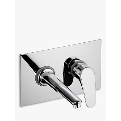 Image of John Lewis & Partners Eden Wall Mounted Basin/Bath Filler Bathroom Tap, Chrome