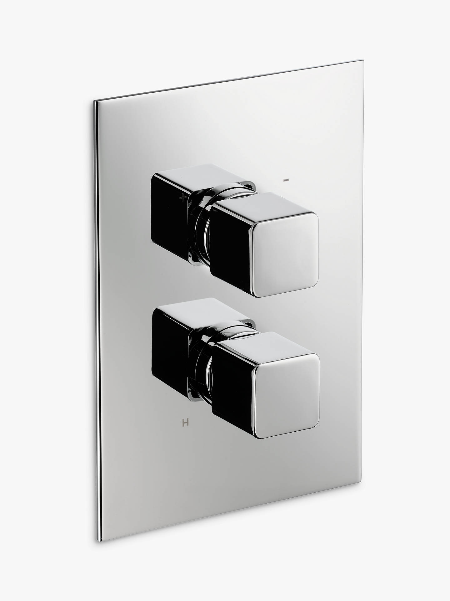 Buy John Lewis & Partners Spey Concealed Thermostatic Shower Valve Bathroom Taps (1 Exit), Chrome Online at johnlewis.com