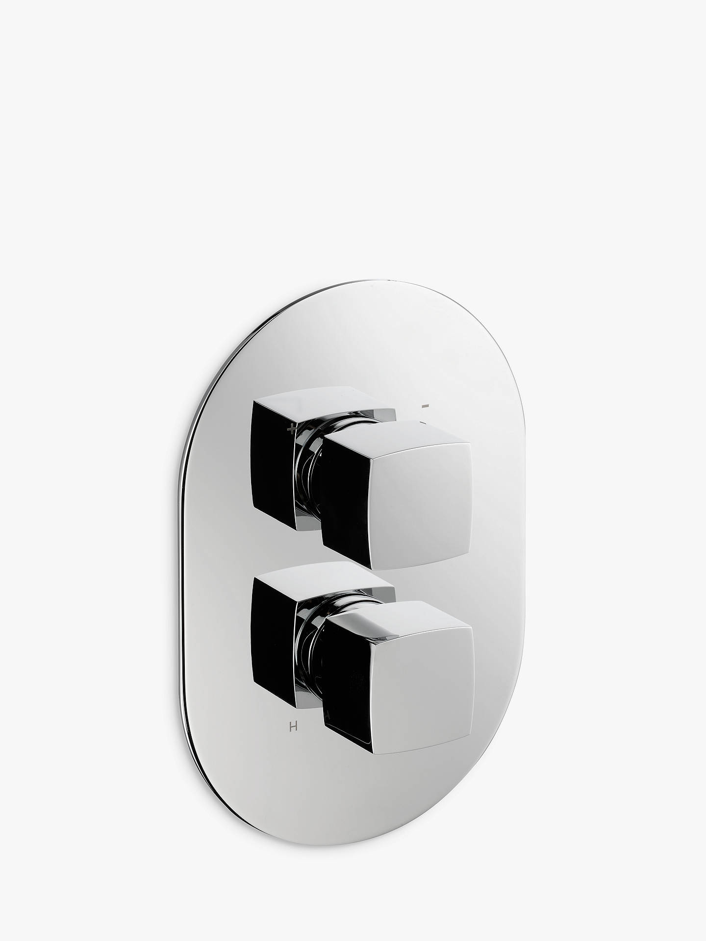 Buy John Lewis & Partners Eden Concealed Thermostatic Shower Valve Bathroom Taps (1 Exit), Chrome Online at johnlewis.com