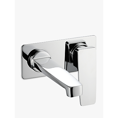 Image of John Lewis & Partners Spey Wall Mounted Basin/Bath Filler Bathroom Tap, Chrome