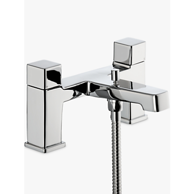 Image of John Lewis & Partners Spey Deck Mounted Bath and Shower Bathroom Mixer Tap, Chrome