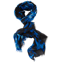 Buy Chesca Floral Printed Scarf, Blue/Black Online at johnlewis.com