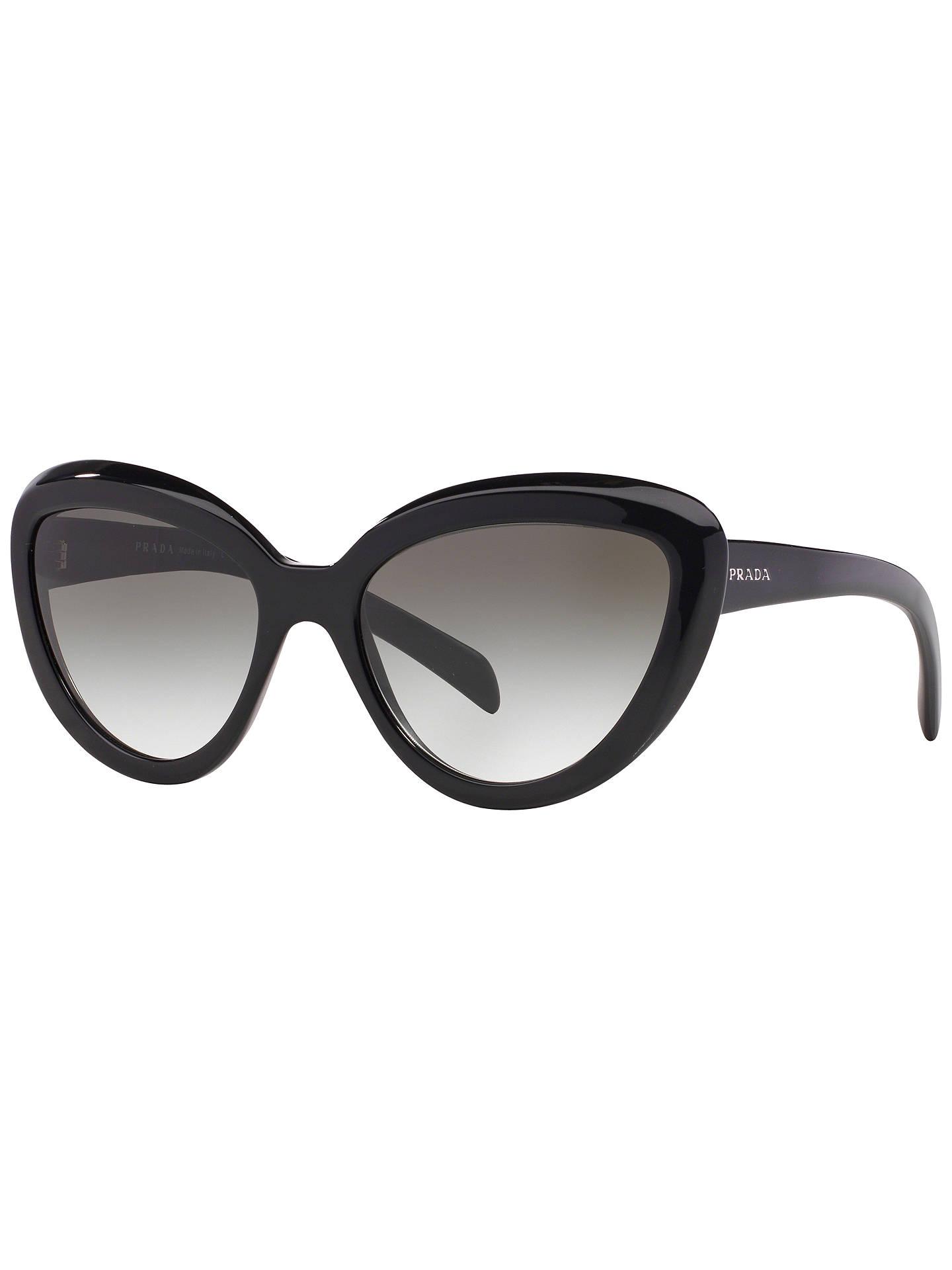 f4b5909fecef Buy Prada PR08RS Cat's Eye Sunglasses, Black Online at johnlewis.com
