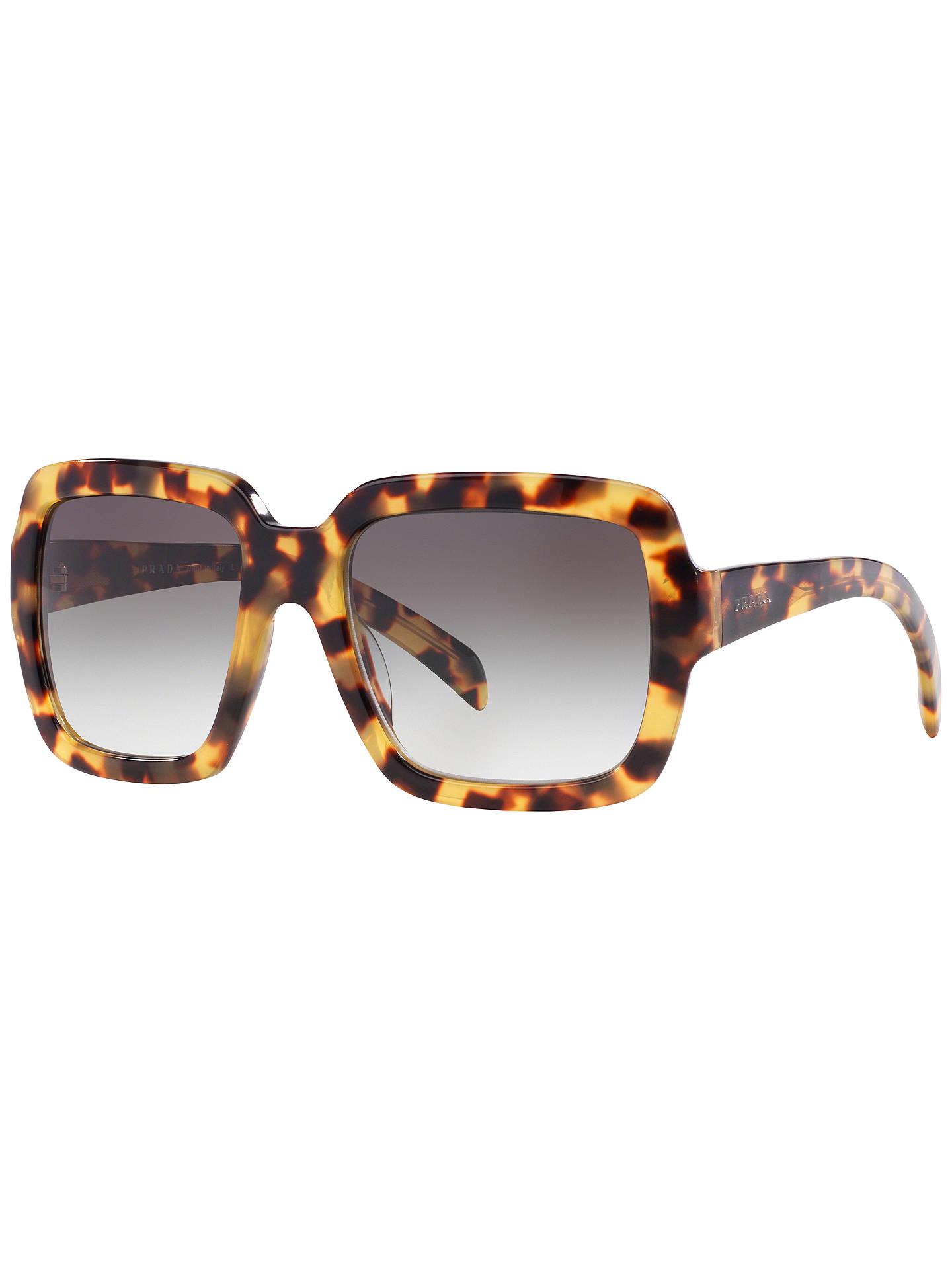 e2a80483e3da Buy Prada PR07RS Square Sunglasses, Medium Havana Online at johnlewis.com