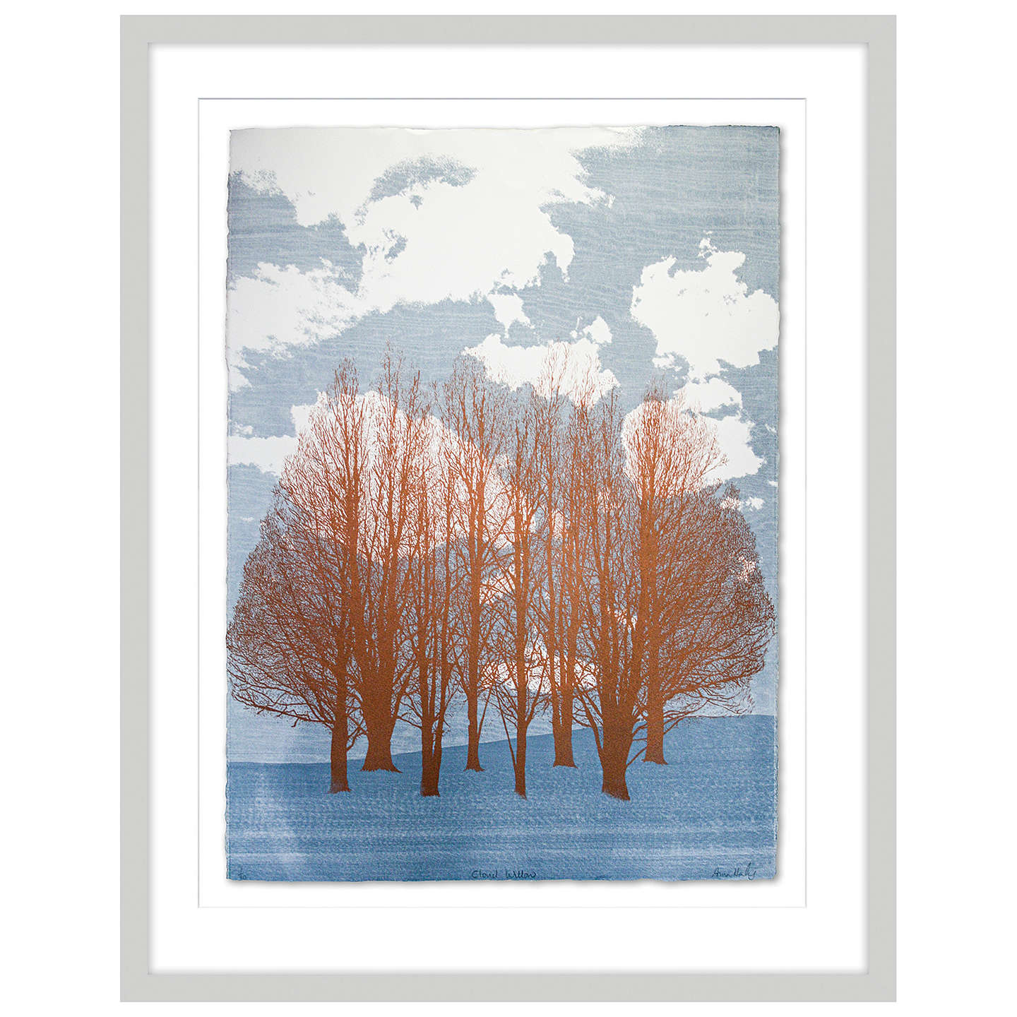 BuyAnna Harley - Cloud Willow Limited Edition Framed Screenprint, 93 x 73cm Online at johnlewis.com