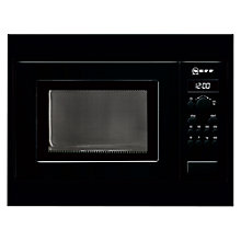 Buy Neff H53W50S3GB Built-In Microwave, Black Online at johnlewis.com
