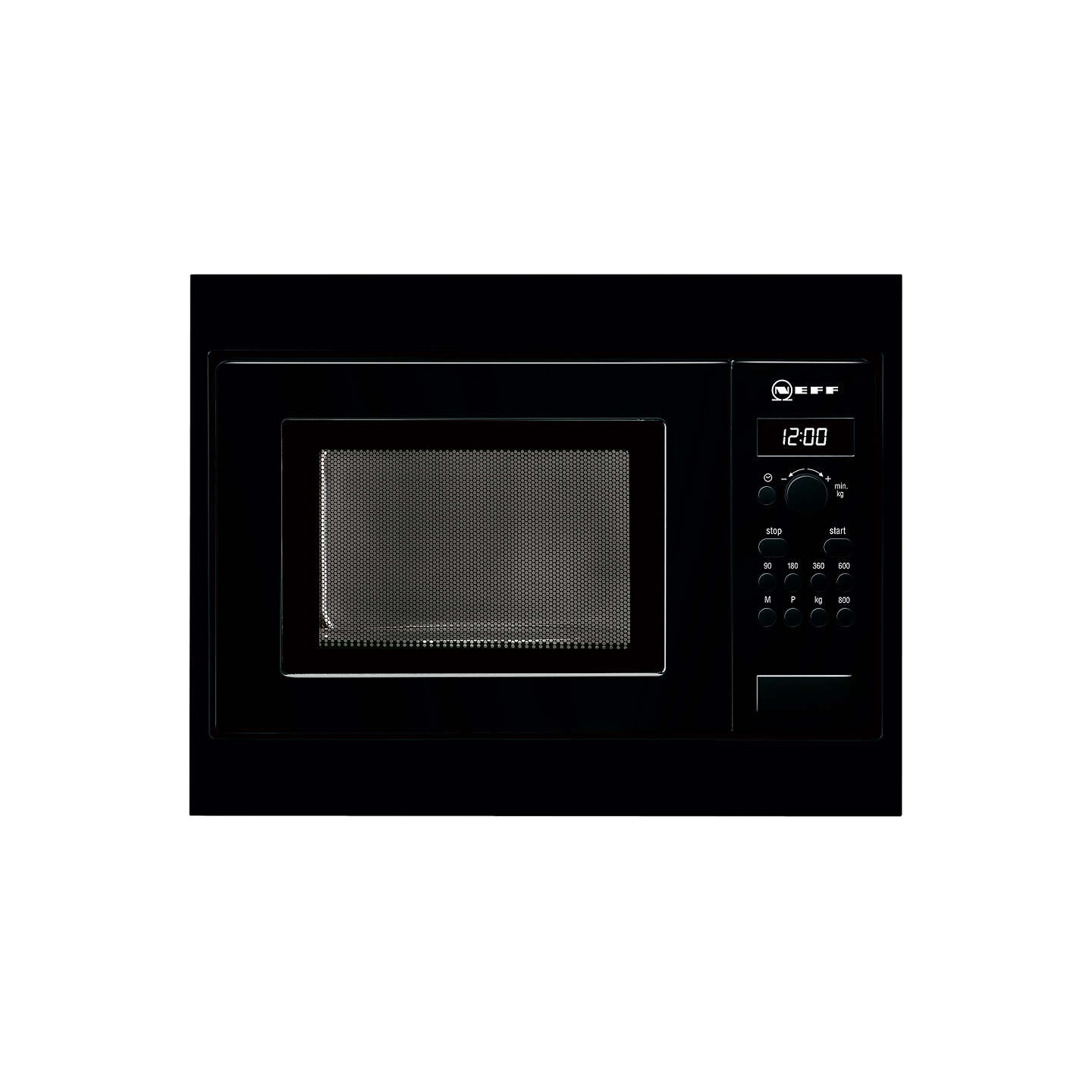 Neff H53w50s3gb Built In Microwave Oven Black At John Lewis
