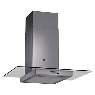 Image of Neff D87ER22N0B 70cm Stainless Steel Chimney Cooker Hood With Flat Glass Canopy