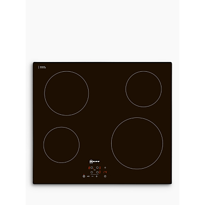 Neff T10B40X2 Electric Ceramic Hob, Black
