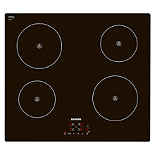 Buy Siemens EH611BA18E Induction Hob, Black Online at johnlewis.com