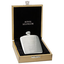 Buy Royal Selangor Hip Flask, Pewter Online at johnlewis.com