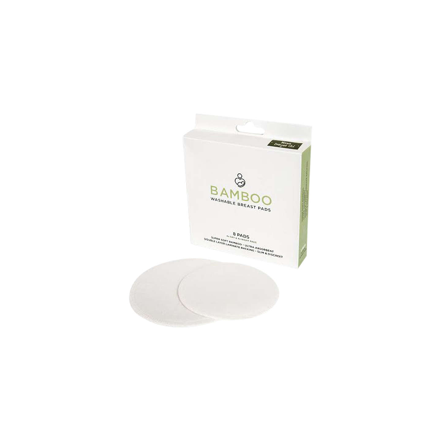BuyMama Designs Bamboo Breast Pads, Pack of 8 Online at johnlewis.com