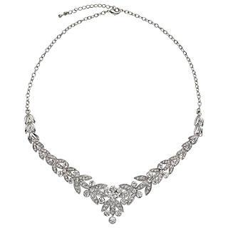 Necklaces gold silver necklaces john lewis john lewis diamante leaf statement necklace silver aloadofball Gallery