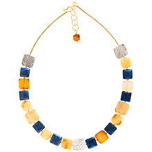Buy Be-Jewelled Amber and Lapis Gold Plated Collar Necklace, Multi Online at johnlewis.com