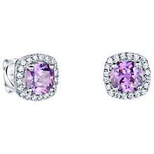 Buy Jools by Jenny Brown Pavé Surround Cushion Square Cubic Zirconia Stud Earrings Online at johnlewis.com