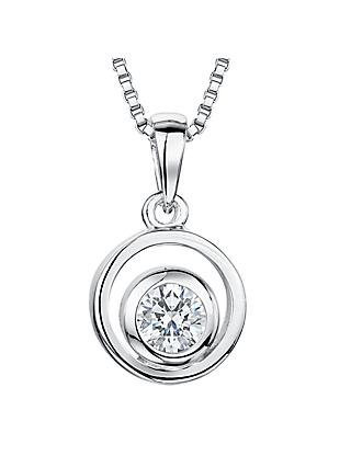 Jools by Jenny Brown Cubic Zirconia Swirl Pendant, Silver