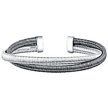 Buy Jools by Jenny Brown Rhodium Plated Silver Double Row Bangle, Silver Online at johnlewis.com