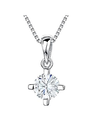 Jools by Jenny Brown Cubic Zirconia Pendant, Silver