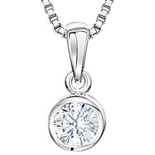 Buy Jools by Jenny Brown Sterling Silver Cubic Zirconia Circular Drop Pendant, Silver Online at johnlewis.com
