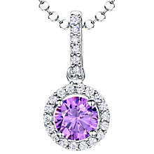 Buy Jools by Jenny Brown Sterling Silver Cubic Zirconia Round Pendant Online at johnlewis.com