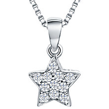 Buy Jools by Jenny Brown Rhodium Plated Silver Cubic Zirconia Star Pendant, Silver Online at johnlewis.com