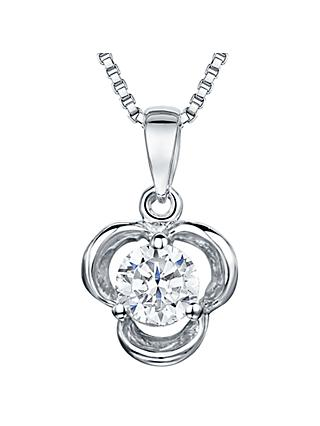 Jools by Jenny Brown Cubic Zirconia Large Pendant, Silver