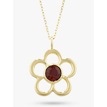 Buy EWA 9ct Gold Birthstone Pendant Necklace Online at johnlewis.com