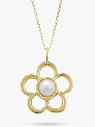 EWA 9ct Gold Birthstone Blossom Pendant Necklace