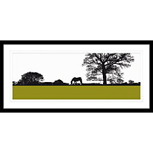 Buy Jacky Al-Samarraie - Landscape with Horse Framed Print, 104 x 49cm Online at johnlewis.com