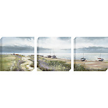 Buy Michael Sanders - Coastal Path Canvas Triptych, 40 x 40cm Online at johnlewis.com