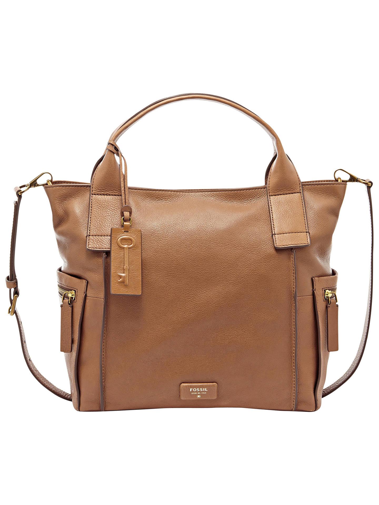 cc90cc046d5 Buy Fossil Emerson Leather Satchel Bag, Camel Online at johnlewis.com ...