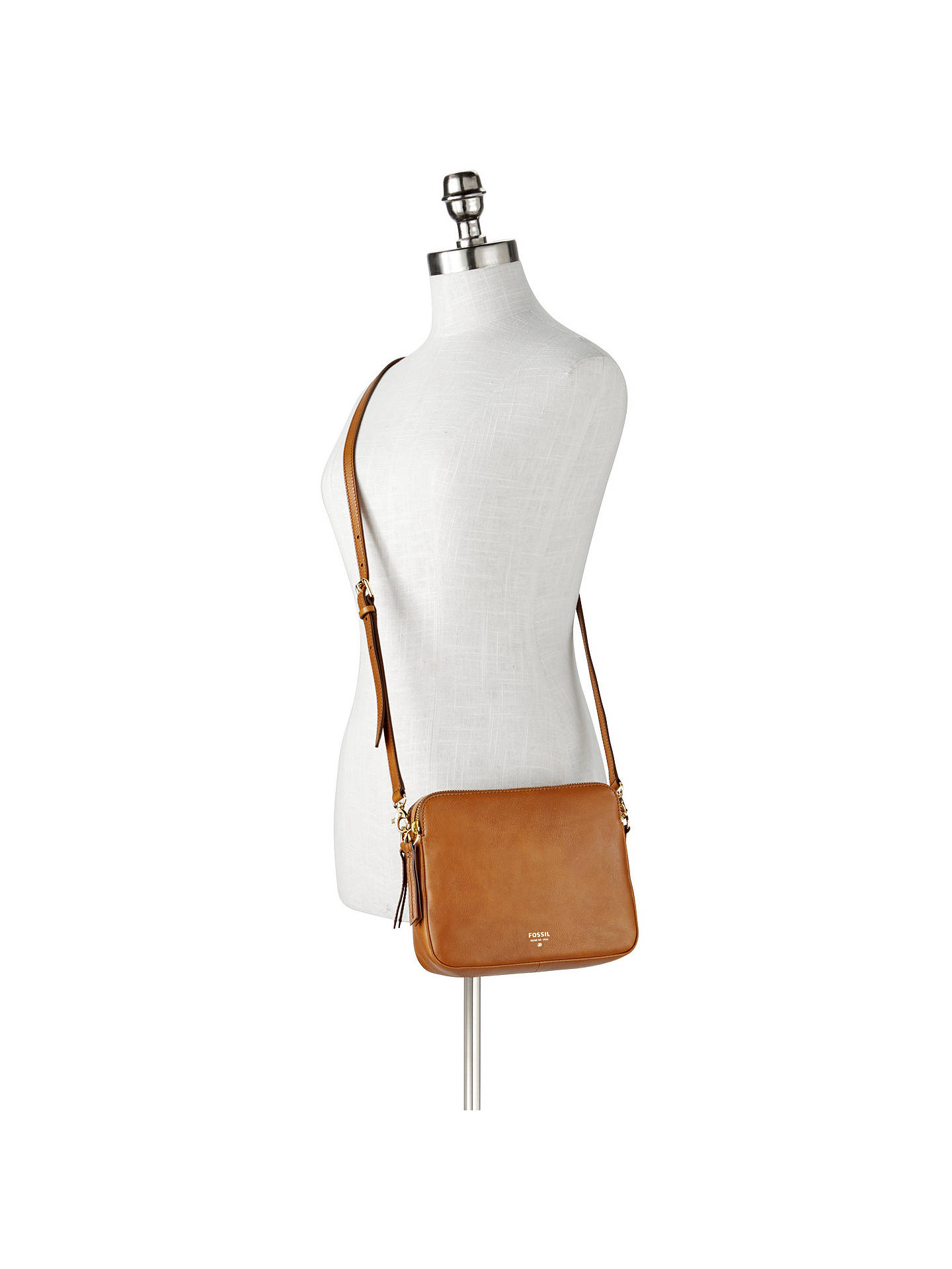 Fossil Sydney Leather Cross Body Bag at John Lewis   Partners b656429828ed2