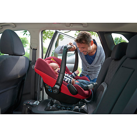 Buy Maxi-Cosi Pebble Plus i-Size Group 0+ Baby Car Seat, Black Raven Online at johnlewis.com