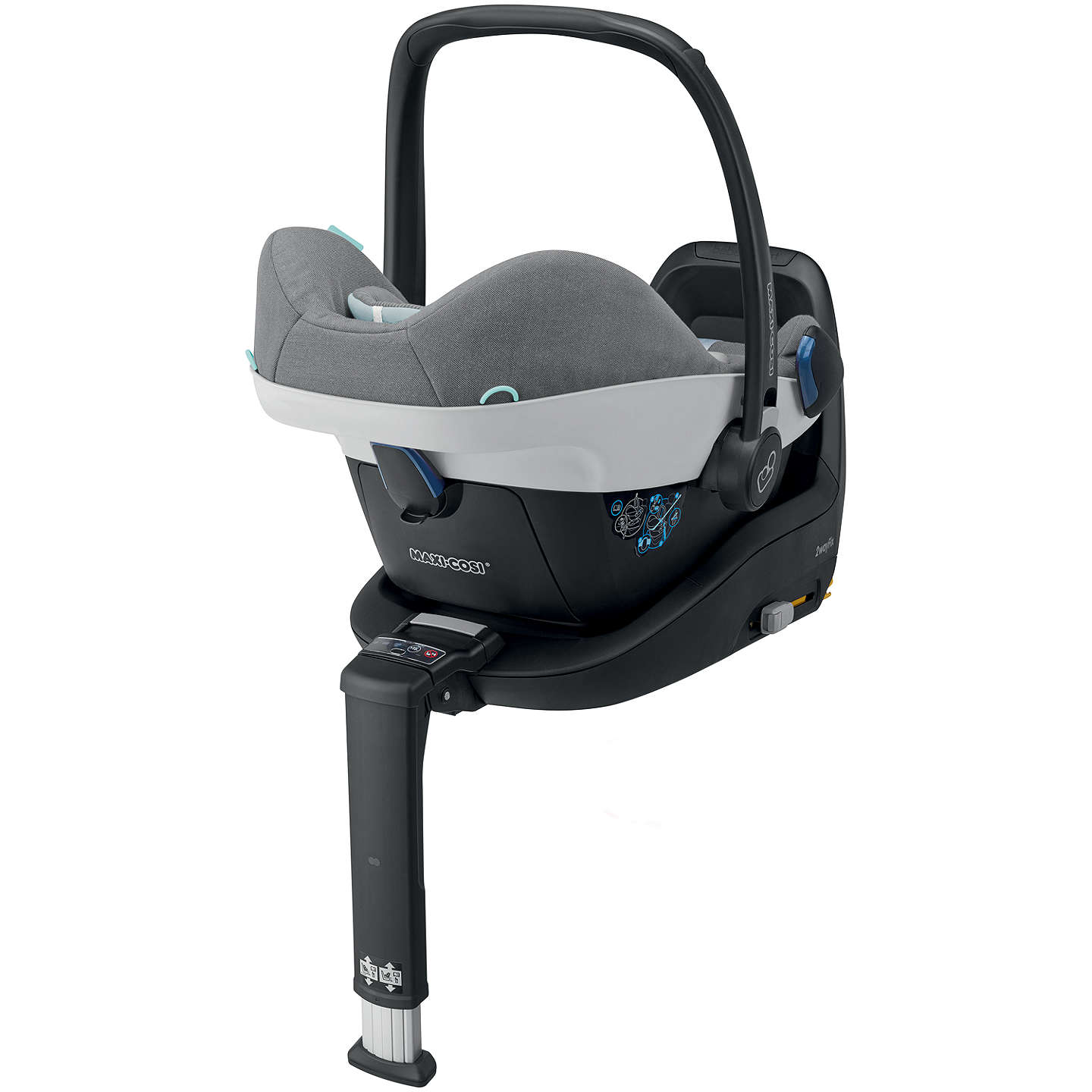 BuyMaxi-Cosi Pebble Plus i-Size Group 0+ Baby Car Seat, Concrete Grey Online at johnlewis.com