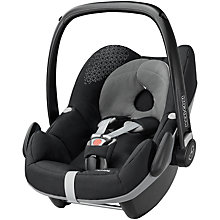 Buy Maxi-Cosi Pebble Group 0+ Baby Car Seat, Origami Black Online at johnlewis.com
