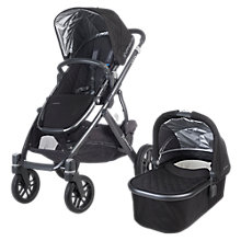 Buy Uppababy Vista 2015 Pushchair and Carrycot, Jake Black Online at johnlewis.com