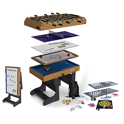 Image of BCE Riley 4 Foot Folding 21-in-1 Multi Game Table