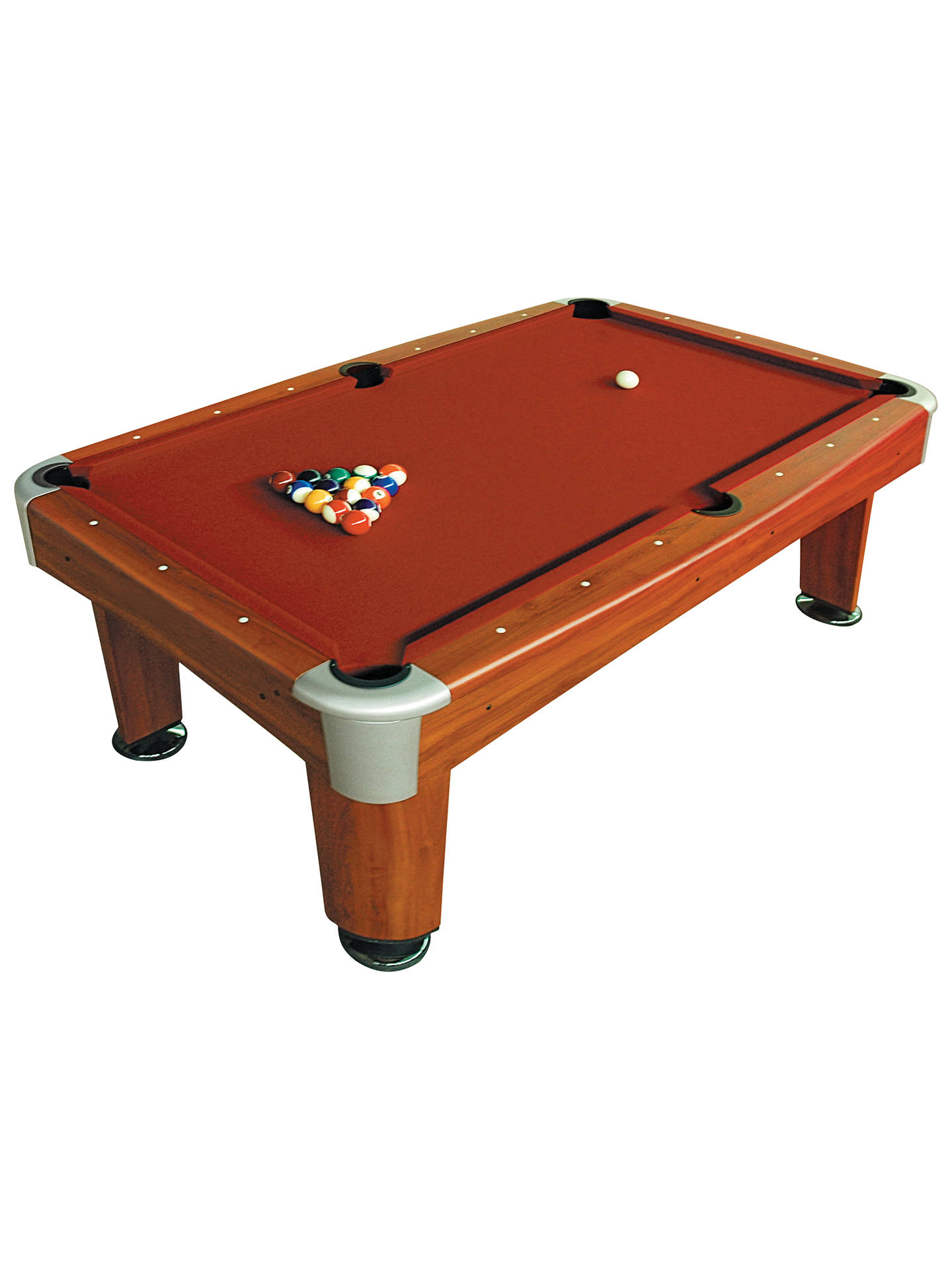 BCE Riley Rosemont Foot Pool Table Red At John Lewis Partners - Pool table no pockets