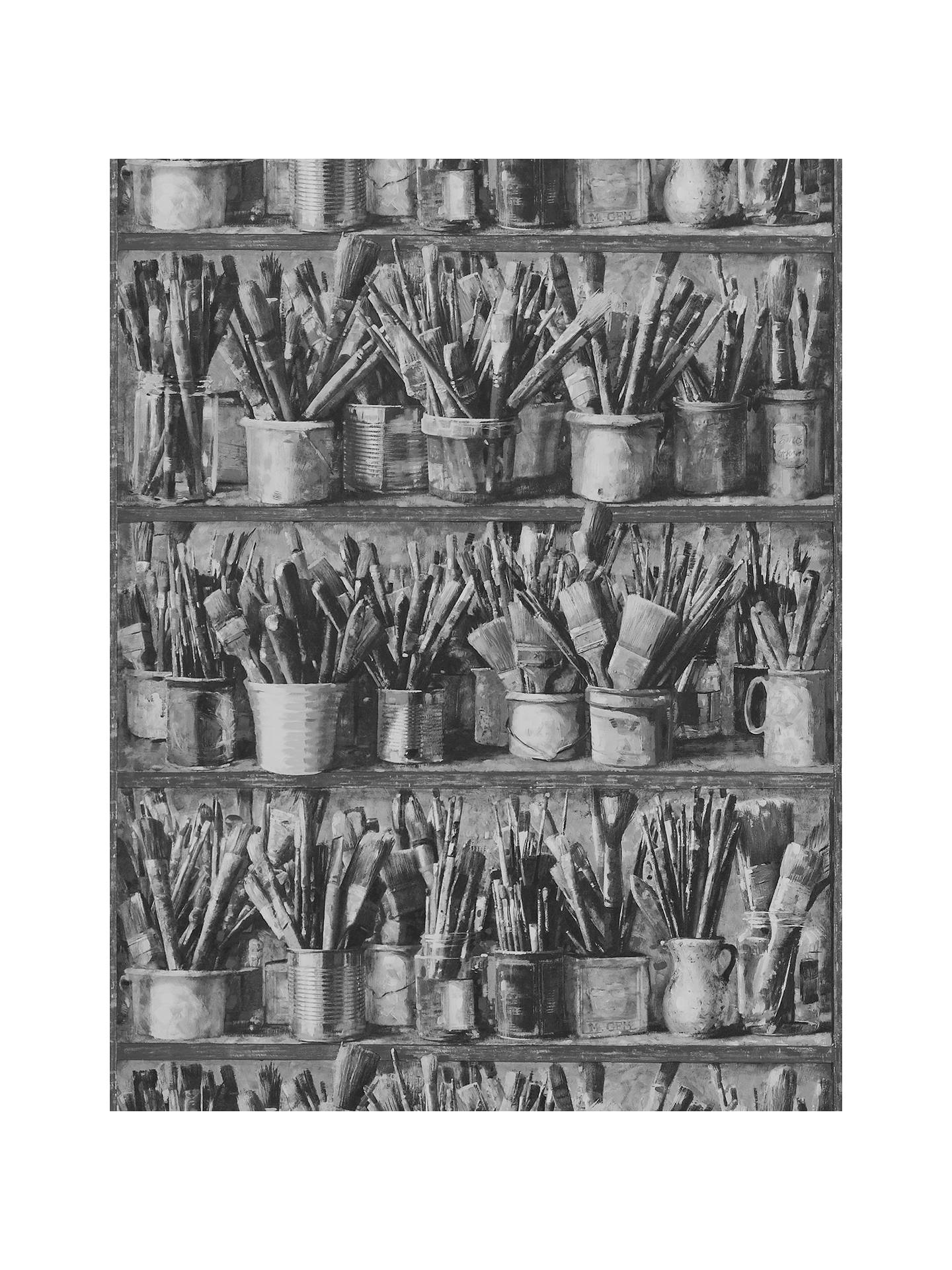 BuyAndrew Martin Paintbox Wallpaper, Pack of 2, Charcoal, APBX2A Online at johnlewis.com