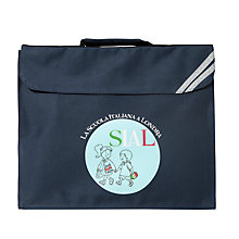 Buy La Scuola Italiana A Londra Expandable School Book Bag, Navy Online at johnlewis.com
