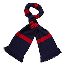 Buy St Martin's School Scarf, Navy/Pink Online at johnlewis.com