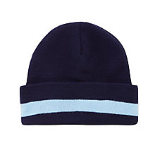 Buy La Scuola Italiana A Londra Knitted Hat, Navy Online at johnlewis.com
